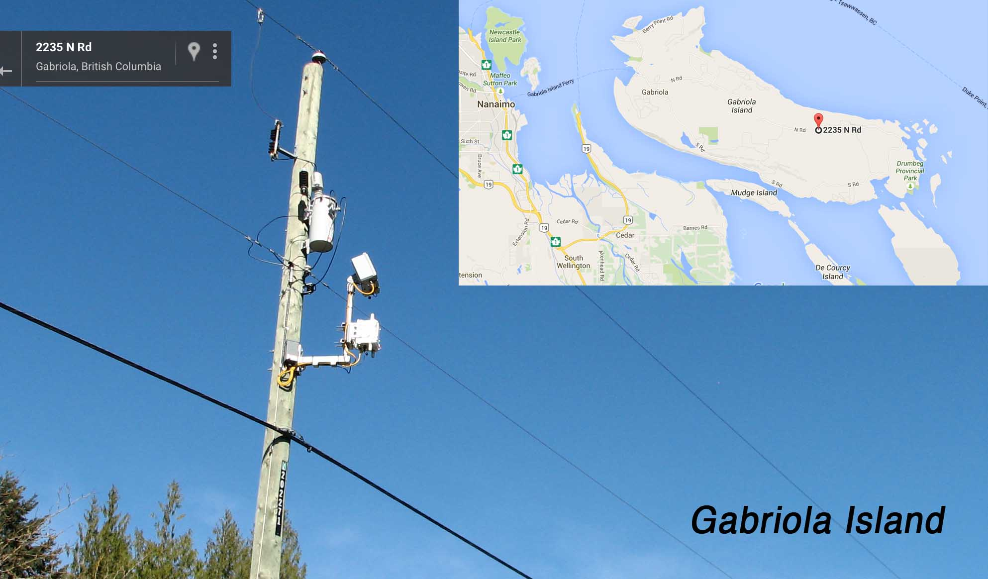 Gabriola Island - BC Hydro Cisco Itron Collector