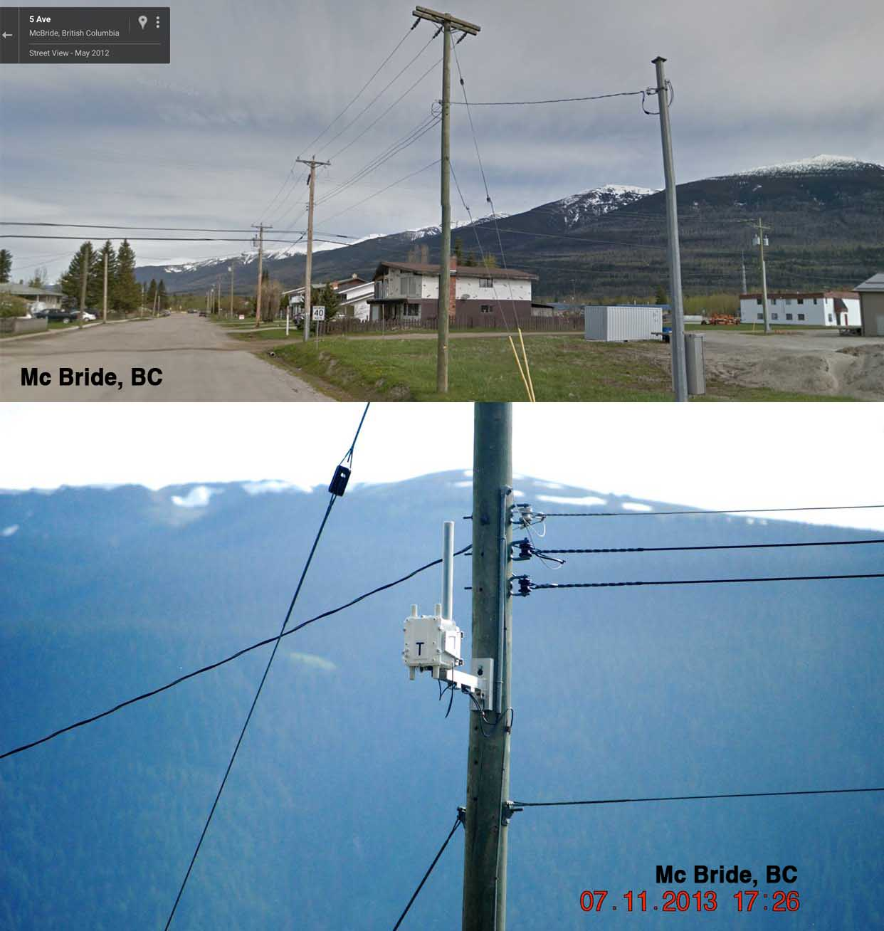 499 Main St. McBride   - BC Hydro Collector Router (Cisco Mesh Network)