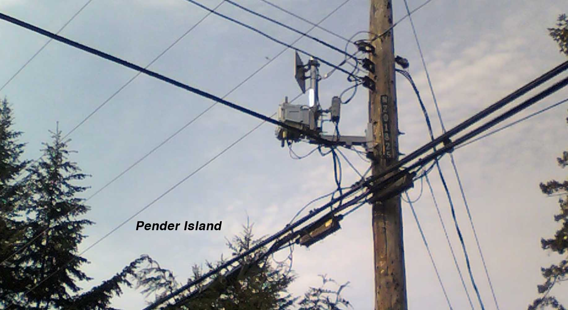 Pender Island - BC Hydro Smart Meter MESH Network with additional MTI Wireless Edge antenna 1.78 – 1.85 GHz